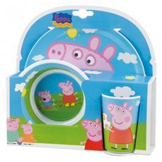 Peppa Pig - Set Pappa 3 Pezzi in Melamina