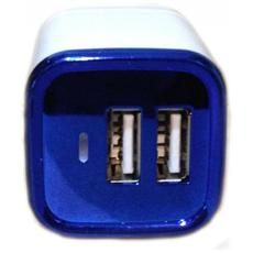 Caricatore Alimentatore Da Rete Con 2 Prese Usb 2a / 2.1a - 5,1 V