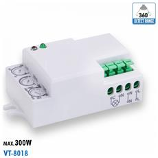 Sensore Di Movimento A Microonde Ip20 Interno Vt-8018 5078