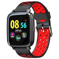 Smartwatch Sn12 Water Resist Ip68 Activity Tracker Fitness Cardio Pedometro Calorie Notifiche Red