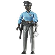Poliziotta Pelle Scura con Accessori Scala 1:16