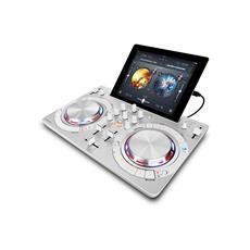 Software controller DJ compatto multi-color, Bianco