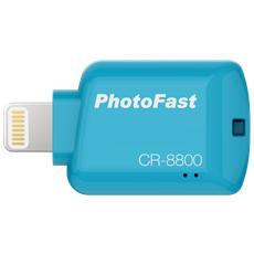 CR8800 Lettore di schede da 32 GB con connettore Lightning - Blu