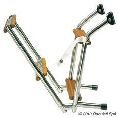 Scaletta inox / legno 3 gradini