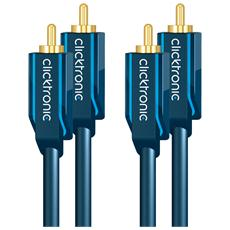 ICOC CLC-2R-010 - Cavo audio coassiale 2 x RCA / 2 x RCA alta qualità 1 m