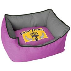 Cuccia Imbottita, comoda Per Cani Misure: 60x50xh23 Cm. Colore Fucsia