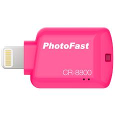 CR8800R Lettore micro SD per Iphone / Ipad / Ipod colore rosa
