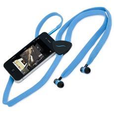 Auricolare Hi-String con cavo in tessuto - Blu