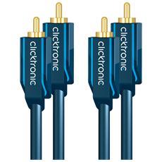 ICOC CLC-2R-050 - Cavo audio coassiale 2 x RCA / 2 x RCA alta qualità 5 m