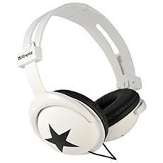 Cuffie Stereo Pieghevole London On-Ear Colore Nero e Bianco