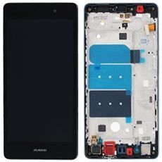 Lcd Touch Screen Vetro E Cover Frame Completo Nero Per Ascend P8 Lite