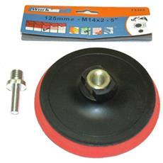 Plattorello Velcro Supporto Dischi Abrasivi 125 Smerigliatrici Angolari Trapano