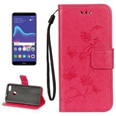 Custodia Portafoglio Finta Pelle Per Smartphone Huawei Y9 (2018)