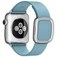 Cinturino Moderno da 38 mm per Apple Watch Colore azzurro fiordo - Medium