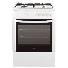 Cucina a Gas CSG62000DW 4 Fuochi Forno a Gas Dimensioni 60 x 60 cm Colore Bianco
