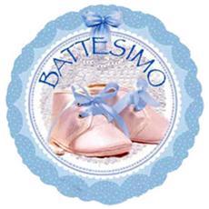 Palloncino Rotondo Battesimo Bambino 45 Cm *05552
