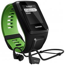 Runner 3 Cardio+music Black/green S+blu Cardiofrequenzimetro