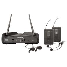 WM202DH UHF Dual Channel Wireless Microphone System