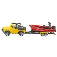 Jeep con Barca con Gommone