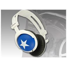 Cuffie Stereo pieghevole London On-Ear Colore Blu e Bianco