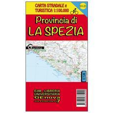 Provincia di La Spezia. Carta stradale 1:100.000 SV 20 con piste ciclabili