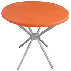 """Tavolo Da Esterno Modello """"jimmy"""" Di Scab Design Colore Arancione, Ø 80 Cm."""