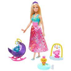 Barbie Dreamtopia Principessa Allevatrice di Draghetti
