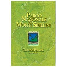 Carta dei percorsi del parco nazionale dei monti Sibillini