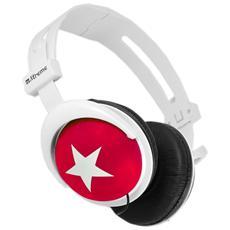 Cuffie Stereo Pieghevole London On-Ear Colore Rosso e Bianco