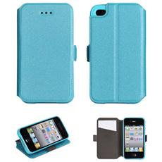 Custodia Slim Tipo Libro Bc3 Per Apple Iphone 5 5s- Azzuro