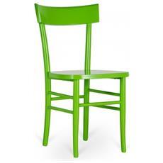 Sedia Realizzata Completamente In Legno Di Faggio Verde Mod. Brera Om / 230 / ve
