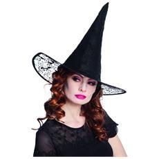 Cappello Nero A Punta Da Strega Per Adulto Taglia Unica