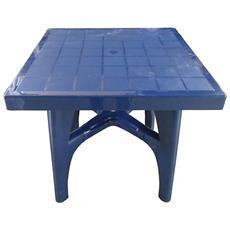 """Tavolo Da Esterno Modello """"quadromax Contract"""" Di Scab Design Colore Blu, L. 80xp. 80xh. 75 Cm."""