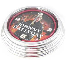 neon orologio da parete 'johnny halliday' rosso - [ h5969]