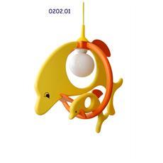 0202.01 Lampadario sospensione Delfin cameretta bambini 52cm x 32cm x max 85cm (regolabile)