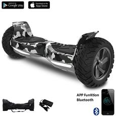 8.5 Pollici Bluetooth+app Suv Hoverboard Monopattino Elettrico Scooter Smart Balance Allroad Skateboard Army Green