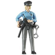 Poliziotta Pelle Chiara con Accessori Scala 1:16