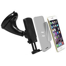 Supporto Universale Magnetico da Auto per Smartphone fino a 6'' Colore Nero