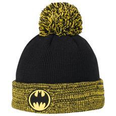 Cappello Batman Pompon Unica Nero Verde