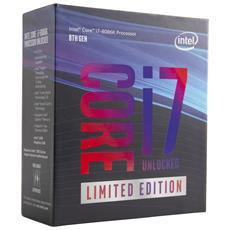 Processore Intel Core i7-8086K 6 Core 4 GHz Socket LGA1151 Boxato Moltiplicatore Sbloccato