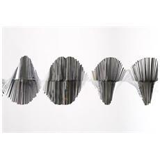 Frangia Spirale da 1.5 Metri Colore Argento