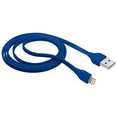 Cavo Lightning piatto per attacco USB da 1 m per caricare e sincronizzazione iPhone - Blu