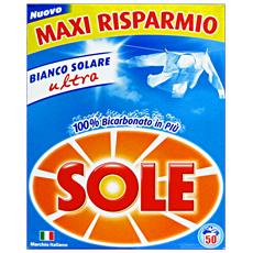Lavatrice Polvere Fustino 50 Mis. Bicarbonato 3,25 Kg. Detergenti Casa