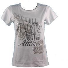 T-shirt Donna Pallettes Bianco S