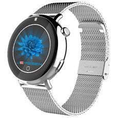 """Smartwatch Pan Vip LED Display 1.22"""" Bluetooth per Attività Sportive Colore Argento - Italia"""