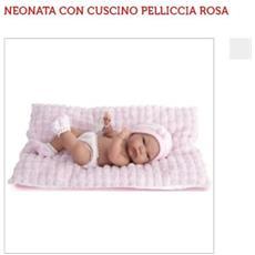 Neonata Con Cuscino Pelliccia Rosa