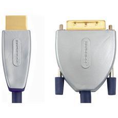 SVL1102 2m HDMI DVI-D Nero, Grigio cavo e adattatore video