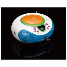 SCD-40 USB Kids, FM, Lettore, CD, CD-R, CD-RW, CA / Batteria, Ripeti, LCD