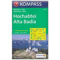 Carta escursionistica n. 624. Alta BadiaHochabtei 1:25.000. Adatto a GPS. DVD-ROM. Digital map