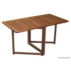 Tavolo teak pieghevole 78x145x70 cm
